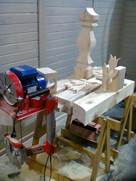 Ukázka práce s pásovou pilou